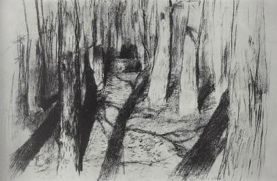 """""""Стволы деревьев"""" И. Левитан"""